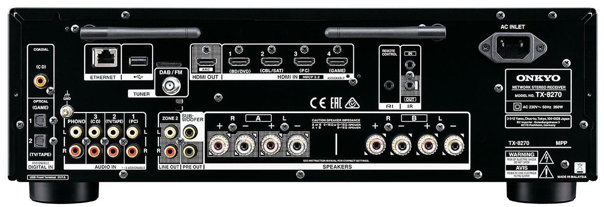Złącza ONKYO TX-8270