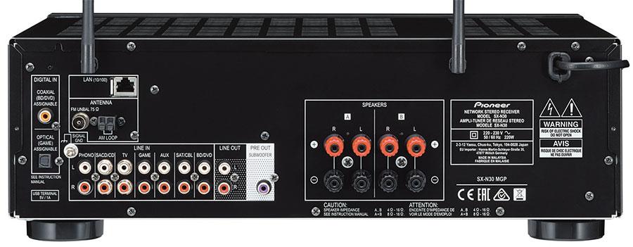 Złącza amplitunera sieciowego PIONEER SX-N30