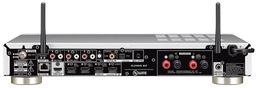 Złącza amplitunera sieciowego PIONEER SX-S30DAB